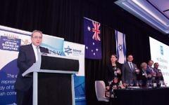 Israeli ambassador to Australia Mark Sofer with NSW Premier Gladys Berejiklian and leaders of the Jewish community. Photo: Giselle Haber