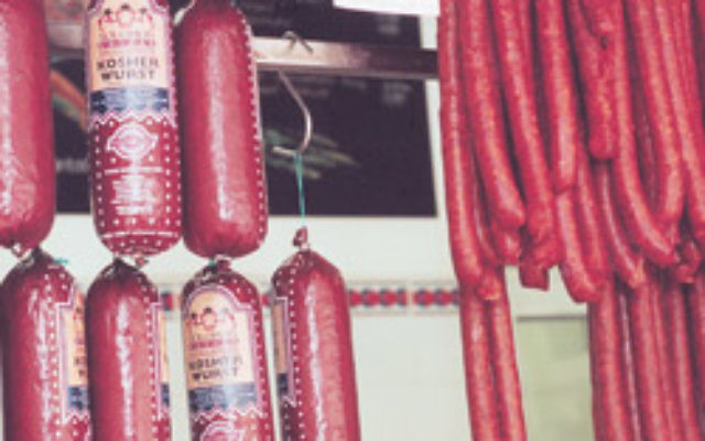 Kosher meat in a butcher's shop. Photo: AJN file