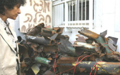 Qassam rockets in Sderot. Photo: AJN file