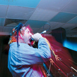 YIDcore lead singer Bram Presser in concert. Photo: AJN file
