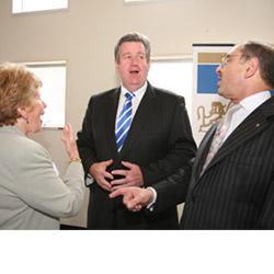 From left: Rysia Rozen, Barry O'Farrell and ECAJ president Robert Goot at the ECAJ conference. Photo: Ingrid Shakenovsky