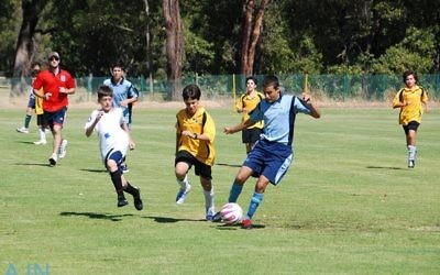 Maccabi Junior Carnival - state vs state, but all good mates. Photo: Kym Sher