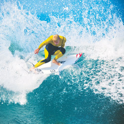 Surfer Mick Fanning in action. Photo: AJN file