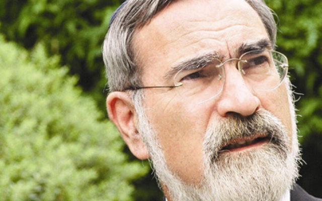 Rabbi Jonathan Sacks.