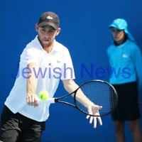 9-1-13. Australian Open Qualifiers. Dudi Sela def Sergio Gutierrez-Ferrol. 6-4, 4-1 (ret). Photo: Peter Haskin