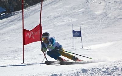 Ben Brill swerves past a gate in the Buller Cup.