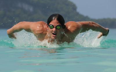 Kyron Israelsohn powers through the pool.