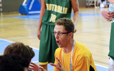 Daniel Sherr coaching at Maccabiah 2013. Photo: Peter Haskin
