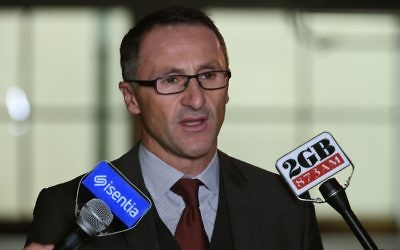Greens leader Richard Di Natale. Photo: AAP Image/Mick Tsikas