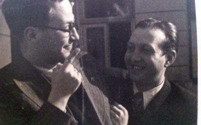 Alfons Goldmann (left) and Max Wassner.