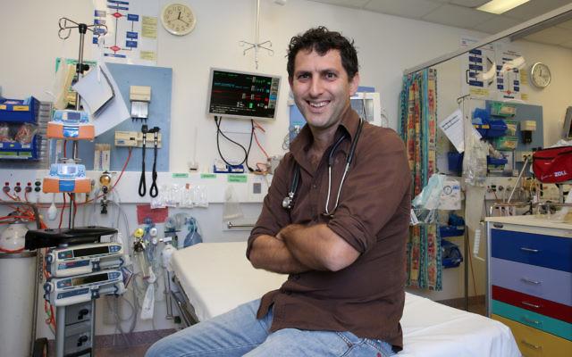 Israeli Doctor Saar Hashavya pictured in the emergency department of The Sydney Children's Hospital in Randwick.