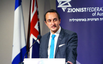 Dave Sharma, Australian Ambassador to Israel at Beth Weizmann Community Centre in Melbourne. Photo: Peter Haskin
