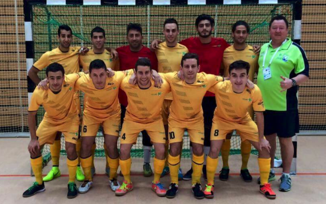 The Maccabi Australia futsal team.