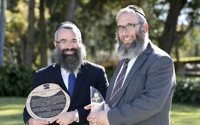 Rabbis Dovid Slavin and Mendel Kastel. Photo: Noel Kessel