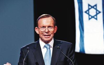 Tony Abbott at the Scopus Foundation's celebration dinner in November 2013. Photo: Dean Schmideg