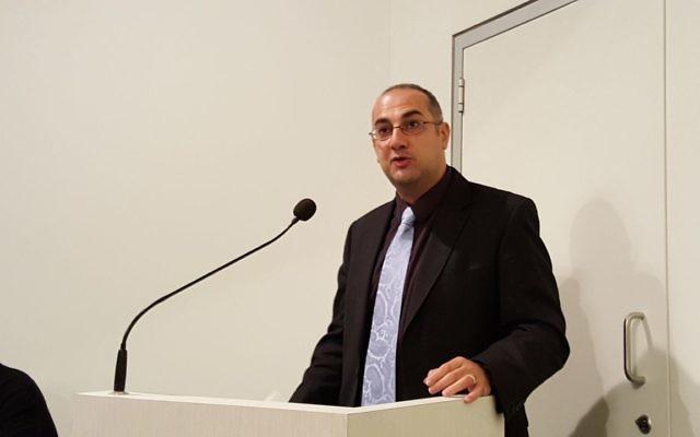 Samuel Tadros addressing the JBOD plenum. Photo: Gareth Narunsky
