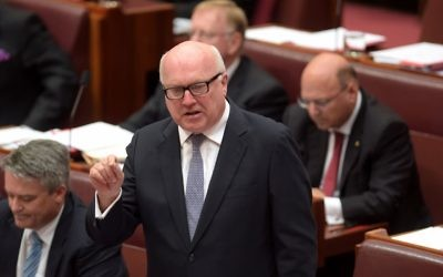 Federal Attorney-General, Senator George Brandis. Photo: AAP Image/Lukas Coch