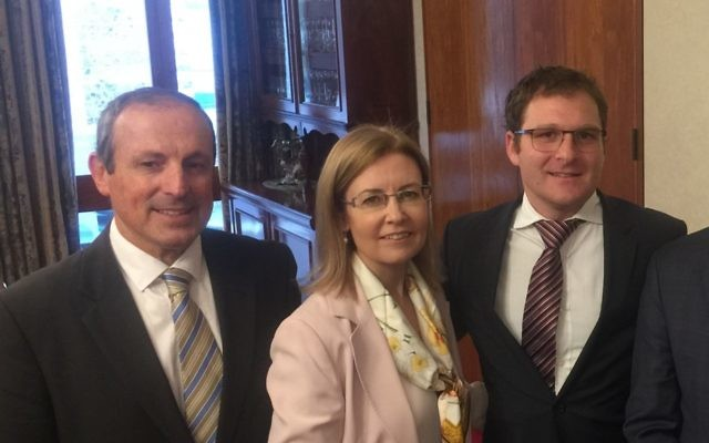 NSW Attorney-General Gabrielle Upton with Vic Alhadeff (on left) and Jeremy Spinak.