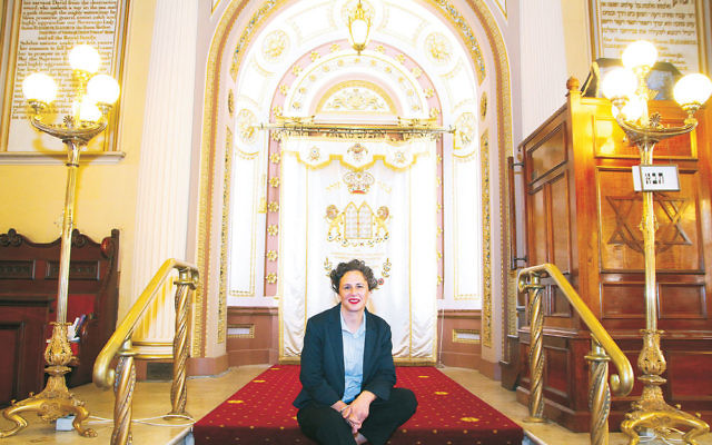 Melbourne Jewish Comedy Festival creative director Justine Sless at East Melbourne Hebrew Congregation. Photo: Peter Haskin