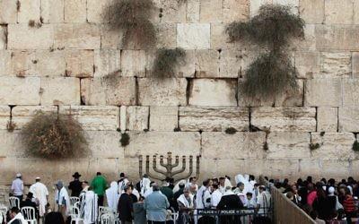 The Western Wall in Jerusalem.