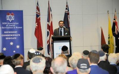 Rabbi Dr Benjamin Elton at the NAJEX commemoration. Photo: Alan Shaw