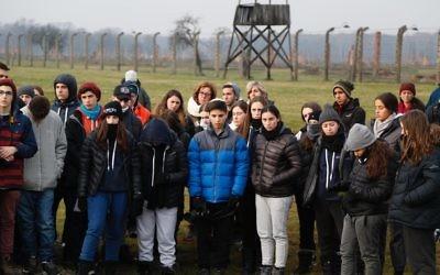 The IST participants at Auschwitz.