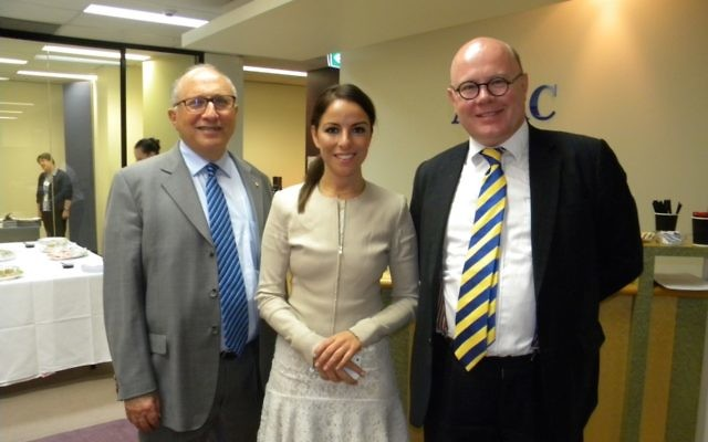 From left: AIJAC executive director Colin Rubenstein, Sharri Markson, and James Campbell.