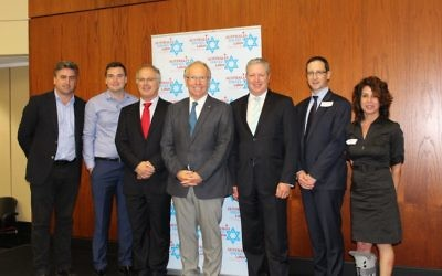 From left: Logan MP Linus Power, ALP Queensland assistant state secretary Jon Persley, AILD co-founder Michael Borowick, Beattie, AILD NSW member Greg Holland, QJBD President Jason Steinberg and QJBD advocacy chair Libby Burke.