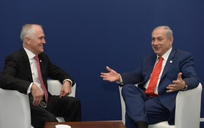 Malcolm Turnbull (left) and Benjamin Netanyahu. Photo: Amos Ben Gershom/GPO