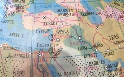 The Middle East section of Typo's globe.