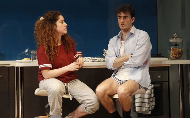 Maria Angelico (left) and Matt Whitty in Bad Jews.
