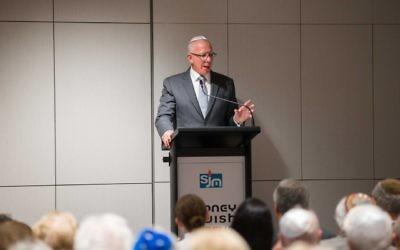 David Hurley addressing the commemoration. Photo: Katherine Griffiths.