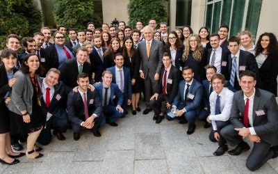 Malcolm Turnbull with Jewish students at Parliament House during AUJS Political Training Seminar (PTS) last week. Photo: Andrew Taylor