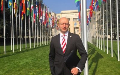 Arsen Ostrovsky spoke at the UNHRC on behalf of the World Jewish Congress last week.