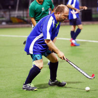 29-2-16. Maccabi Hockey veterans defeated Power House 3-2 in the Summer season grand final. Peter Rubinstein. Photo: Peter Haskin
