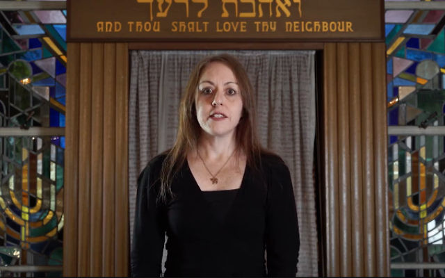 A still from a video released earlier this year in which Rabbi Jacqueline Ninio publicly expressed her support for same-sex marriage.