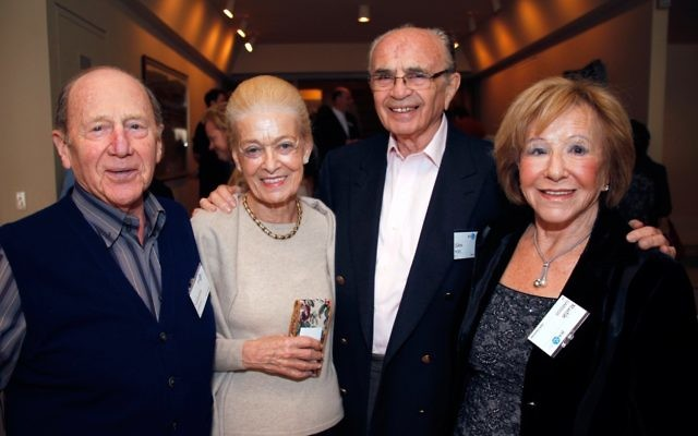 Sam Moss (second from right) passed away last week at the age of 90.