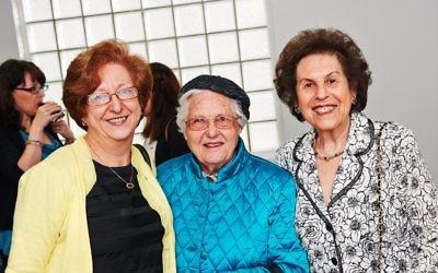 Ann Zablud (centre) with (l-r) Miriam Suss and Ilse Lamm. Photo: Dean Schmideg