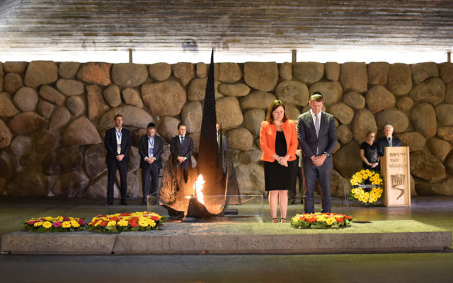 Mike and Kerryn Baird at Yad Vashem. Photo: Office of the NSW Premier