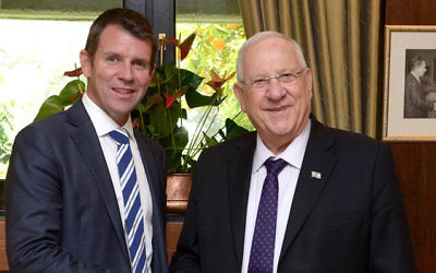 Mike Baird (left) with Reuven Rivlin. Photo: GPO/Mark Neiman