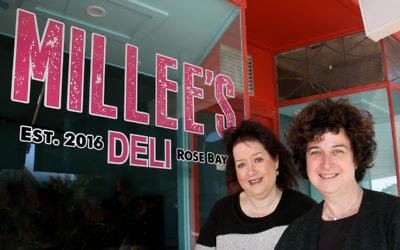 Minette Lee-Warden (left) and Dena Miller at Millee's Deli in Rose Bay.  Photo: Noel Kessel.