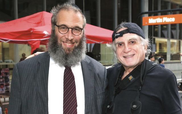 Henry Benjamin, right, with his close friend Rabbi Mendel Kastel.