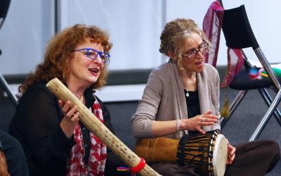 Eva Light (left) and Shira Patkin at Limmud Oz in Melbourne. Photo: Peter Haskin.