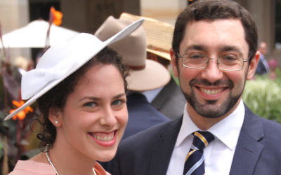Hinda Young with her husband Rabbi Benjamin Elton from The Great Synagogue.