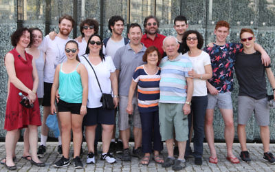 Leon and Sharon Milch (front) in Krakow with members of their extended family.