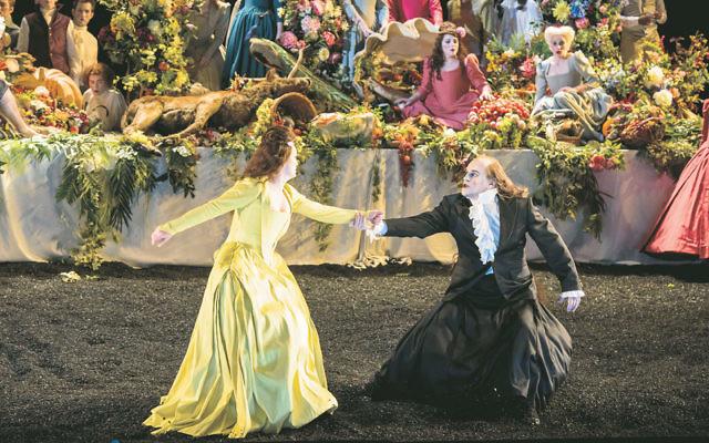 A lavish scene in Handel's oratorio, Saul, at the Glyndebourne Festival in 2015. Photo: Bill-Cooper
