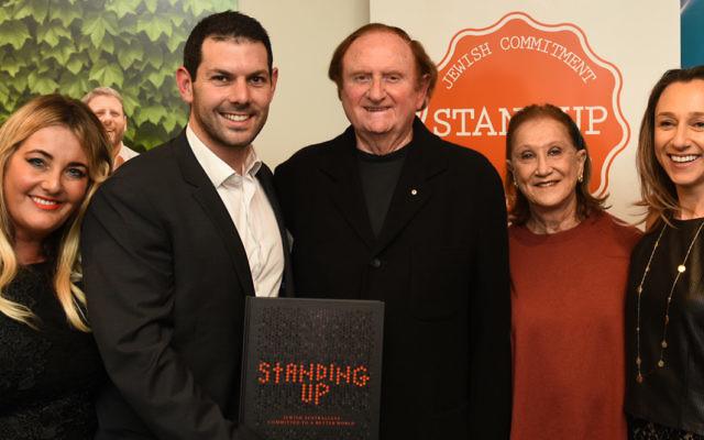From left: Deborah Blashki-Marks (editor), Gary Samowitz (Stand Up CEO), John and Pauline Gandel, Lillian Kline. Photo: David Cohen photography.