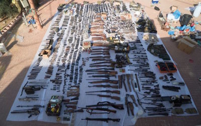 Over 300 weapons confiscated have been since October 2015, according to the IDF.