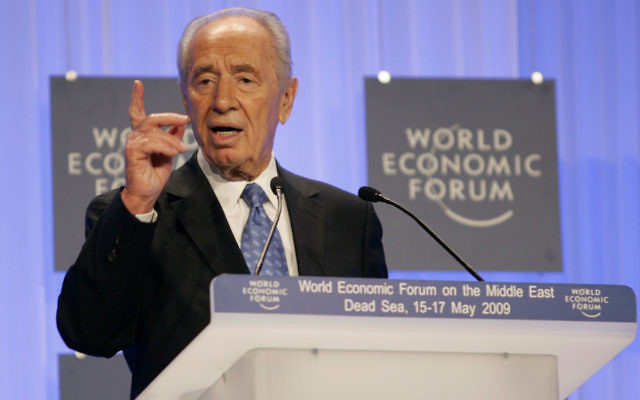 Shimon Peres in 2009.