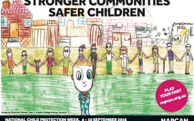 The poster for National Child Protection Week.